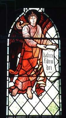 Angel with a scroll by Sir Edward Burne-Jones (1833-98), 1894 (stained glass)