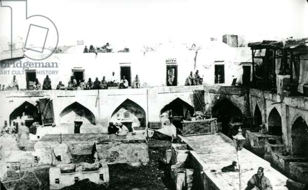 Indian Quarters, Uzbekistan, 1895 (b/w photo)