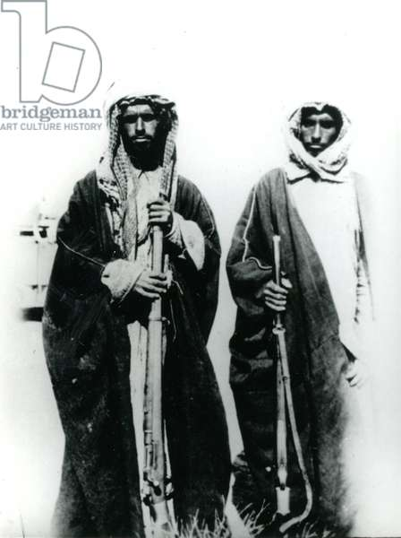 Two Bedouin, 1934 (b/w photo)