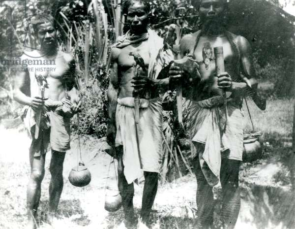 S. Siam Malay bird catchers, c.1910-30 (b/w photo)