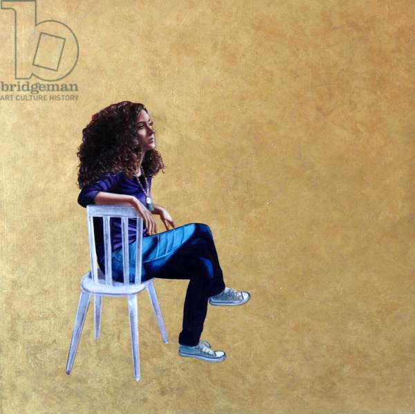 Contemplation, 2011, (oil on board)