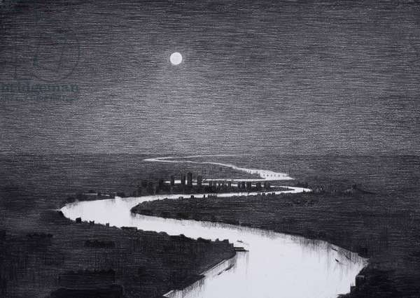 Isle of Dogs, 2015, charcoal on paper, (details from the hand drawn animation The Masque of Blackness)