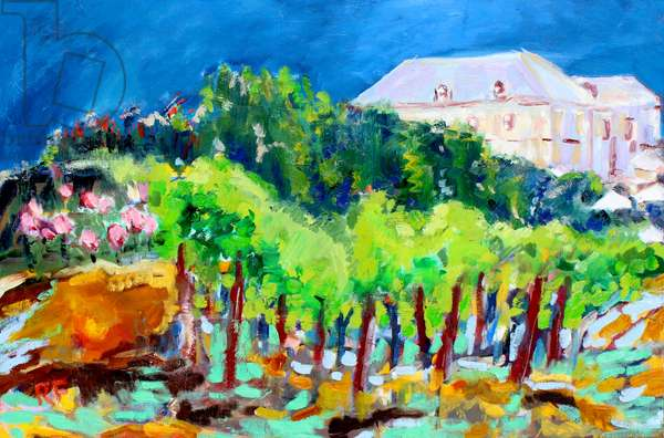 Chateau and Vines, 2017, (oil on canvas)