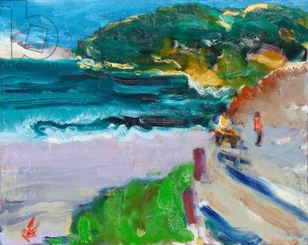 Bay at Dusk, 2019, (oil on canvas)