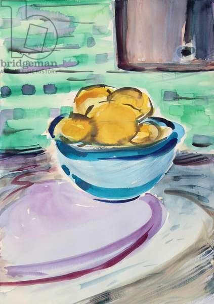 Still Life with Lemons, 2020 (w/c on paper)