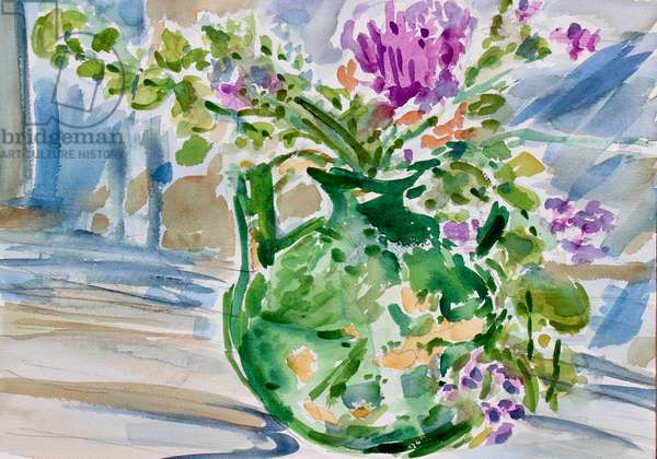 The Old Green Vase, 2020, (watercolor on paper)