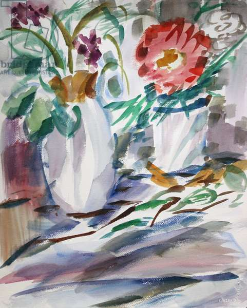 Still Life with Cast Shadows, 2014, (watercolor on paper)