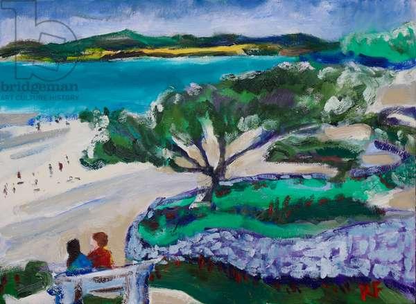 The Terrace, Carmel-by-the-Sea, 2017, (oil on canvas)