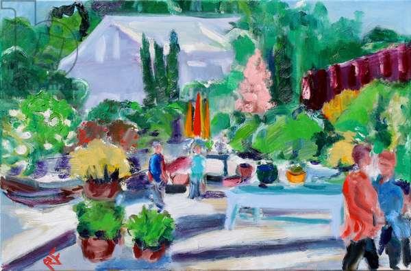 Pop-up Market, Napa, 2020, (oil on canvas)