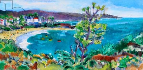 Crescent Bay, Laguna Beach, 2018, (oil on canvas)