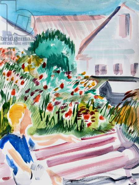 Luther Burbank Gardens, Santa Rosa, 2016, (watercolor on paper)