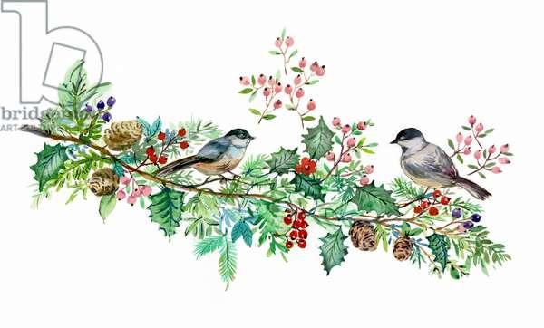 Christmas Chickadees