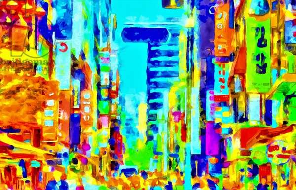 Multicolours city, literally, 2020 (mixed media)