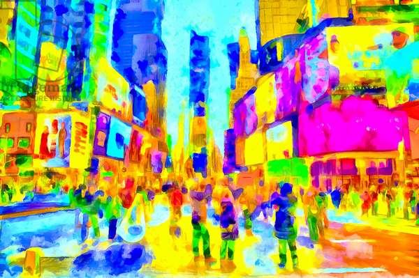 Ultraviolet city, 2020 (mixed media)