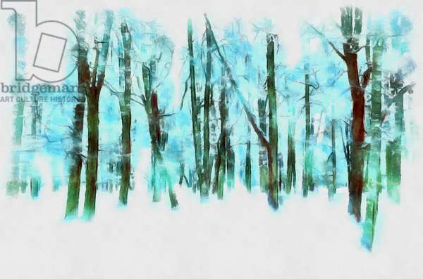 Winter in the forest,2020,(mixed media)