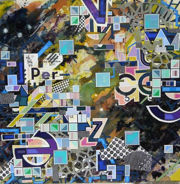"""""""PBG-2819"""", 2018, mixed media on canvas"""