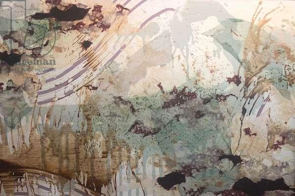 """""""TGB-32"""",2017, mixed media on canvas"""