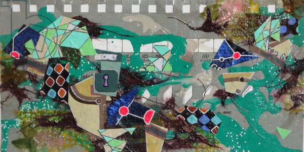 """""""GGB-6767"""", 2015, mixed media on paper"""