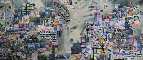 """GGB-0000"", 2017,mixed media on canvas"