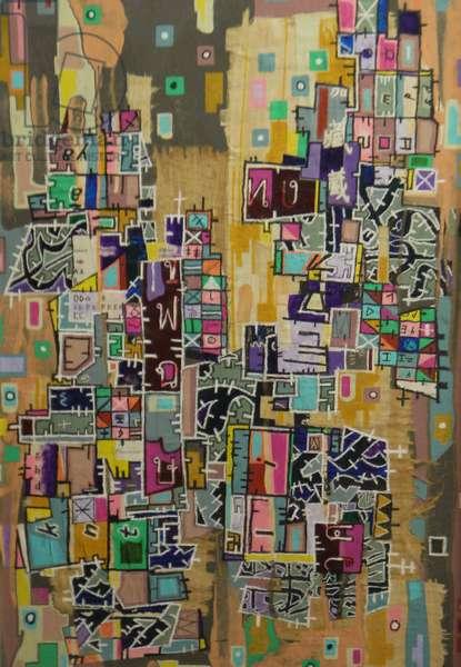 """GPV-76"", 2010, mixed media on canvas"