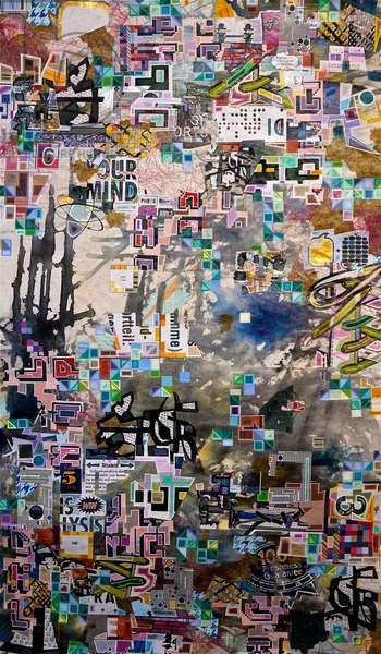 """BRV-1919"", 2007, mixed media on canvas"