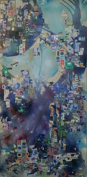 """""""BYV-0076"""", 2008, mixed media on canvas"""