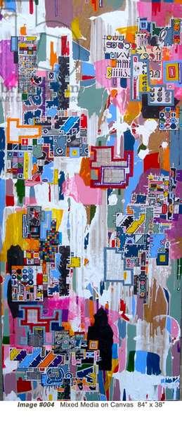 """""""RBP-1900"""", 2003, mixed media on wood panel"""