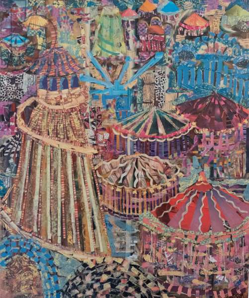 Fairground, 2007 (paper collage)
