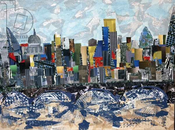 London Skyline, 2014 (paper collage)