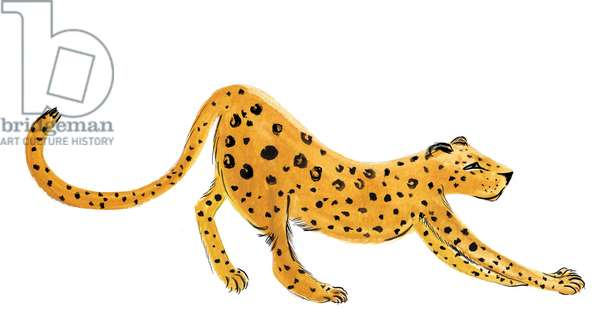 Leopard Yoga, 2020 (w/c on paper)