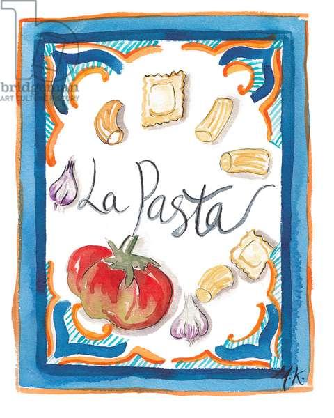 La Pasta, 2018 (w/c on paper)