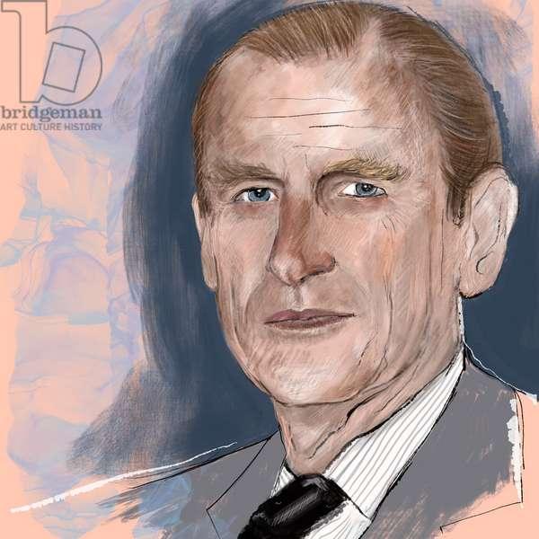 Prince Philip, Duke of Edinburgh, 2021 (w/c & digital)