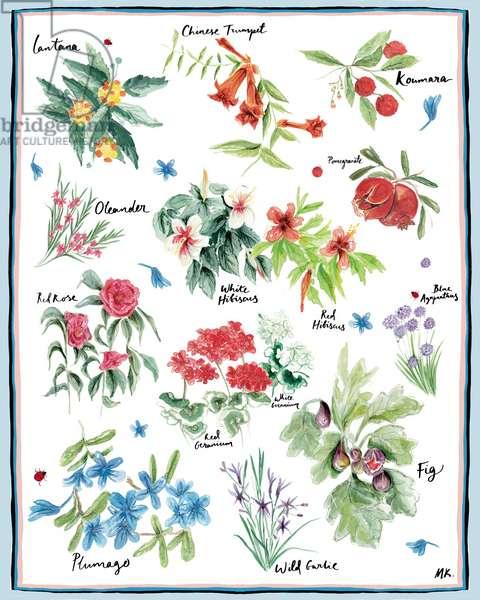 Mediterranean Garden, 2019, (watercolor on paper)