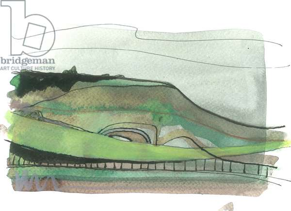Ditchling Beacon, 2017 (w/c on paper)