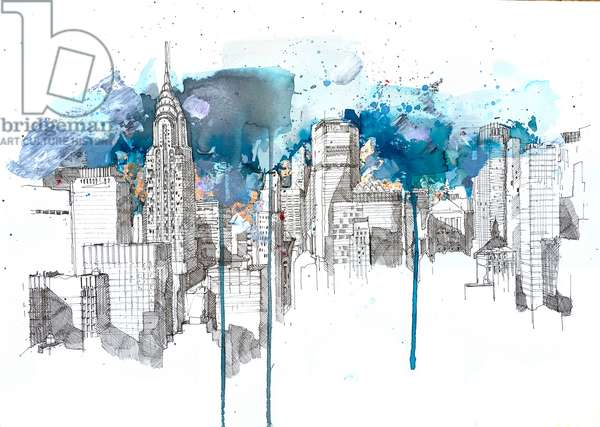Sweet Dreams New York, 2020 (mixed media on paper)