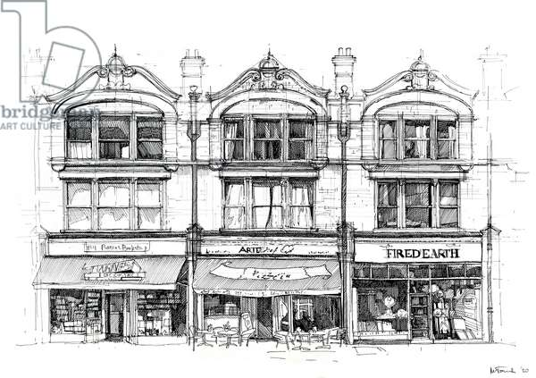 The High Street, 2020 (ink on paper)