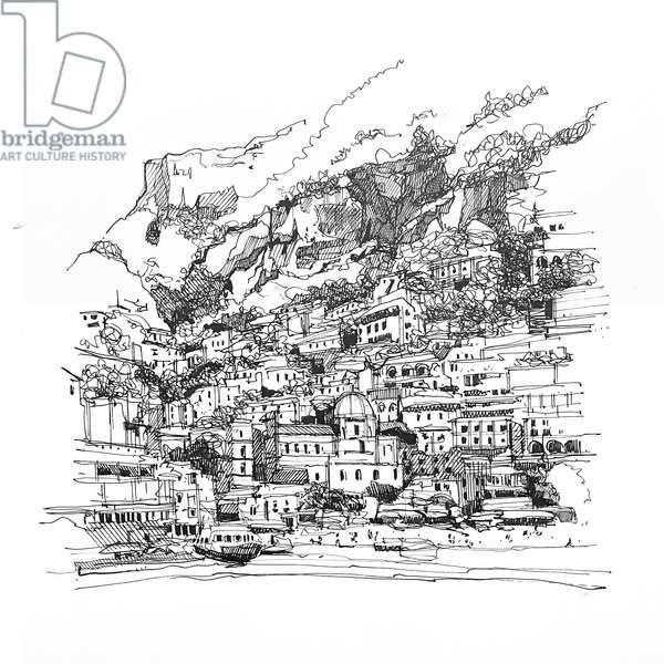 Positano, 2020 (ink on paper)