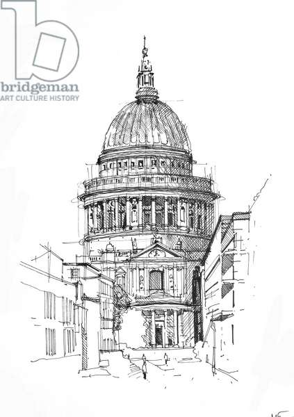 St Paul's, 2020 (ink on paper)