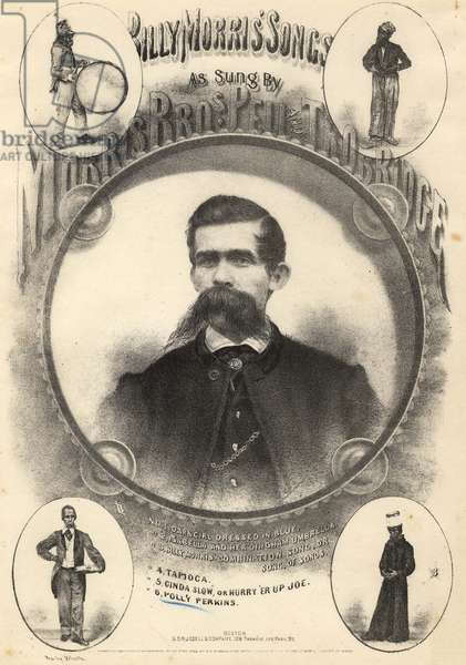 Billy Morris' Songs, as sung by Morris Bros, Pell and Trobridge, 1864 (litho)