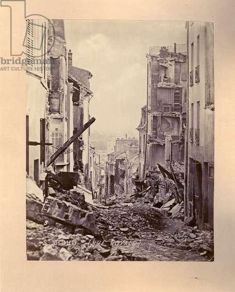 No. 15- St. Cloud, Rue Royale, 1871 (b/w photo)