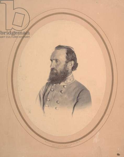 Thomas Jonathan 'Stonewall' Jackson, 1863 (b/w photo)