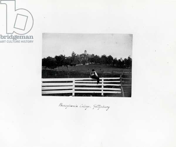 Pennsylvania College, Gettysburg, c.1865 (b/w photo)
