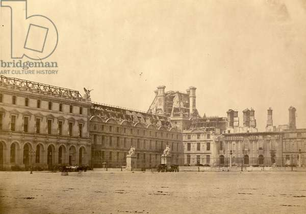 No. 10 - Les Tuileries with the Pavillon de Flore from the Place du Carrousel, May 1871 (b/w photo)