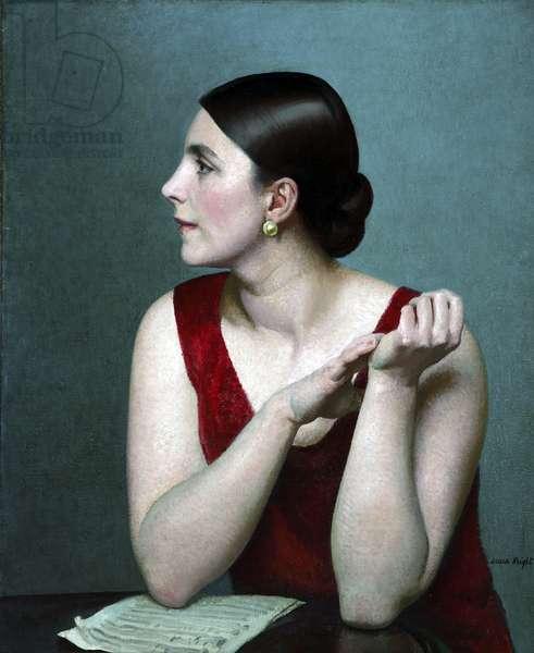 Portrait of Ethel Bartlett, 1926 (oil on canvas)