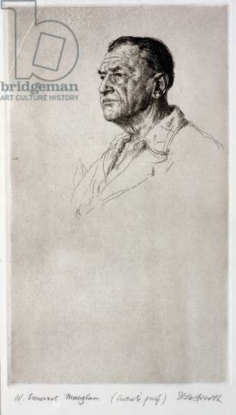 Portrait of Somerset Maugham (litho)