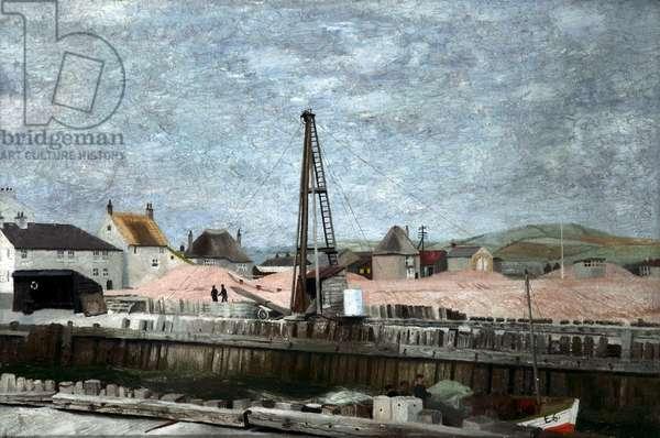 Quayside, Dorset, 1937 (oil on canvas)