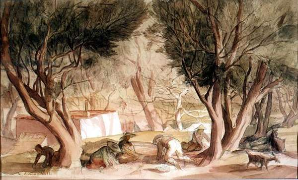 The Olive Gatherers