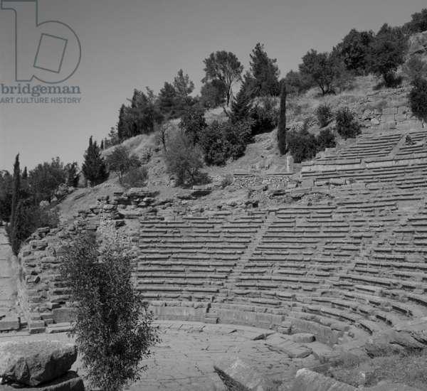 Theatre, Delphi (b/w photo)