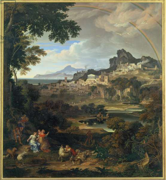 Heroic landscape with Rainbow, 1815 (oil on canvas)
