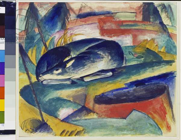 Sleeping Deer, 1912-13 (tempera on canvas)